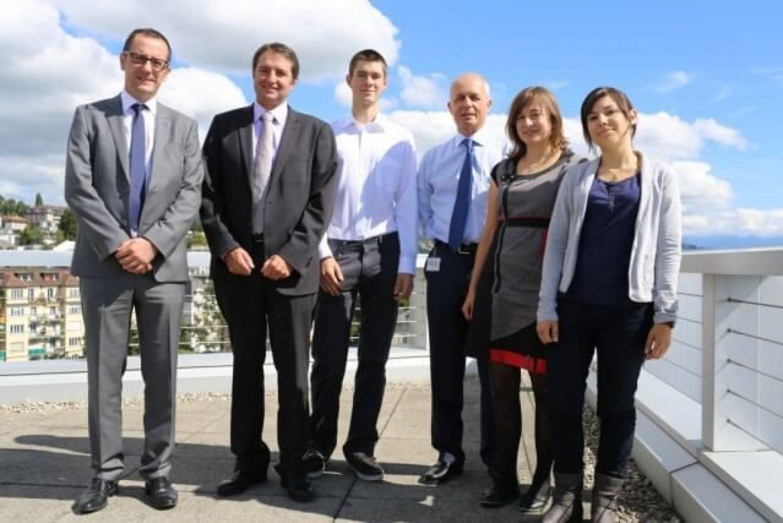 Photos des 4 bourses d'excellence sur le toit de Debiopharm